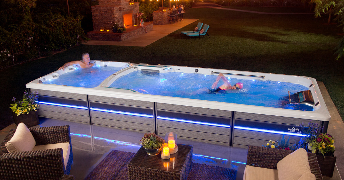 Dual Temp Swim Spa Swim Spa Hot Tub Hot Tub Swim Spa