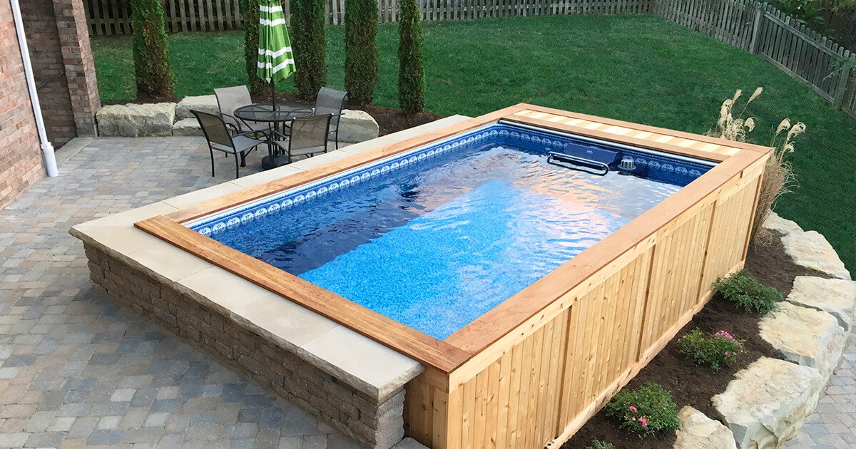 Backyard pools small backyard pool backyard swimming pools - Swimming pools for small backyards ...